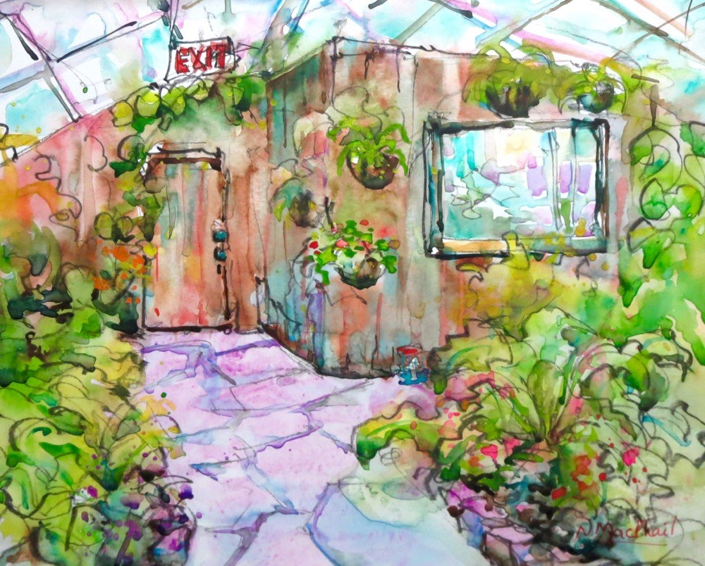 """verdurous"" original fine art by Nora MacPhail"