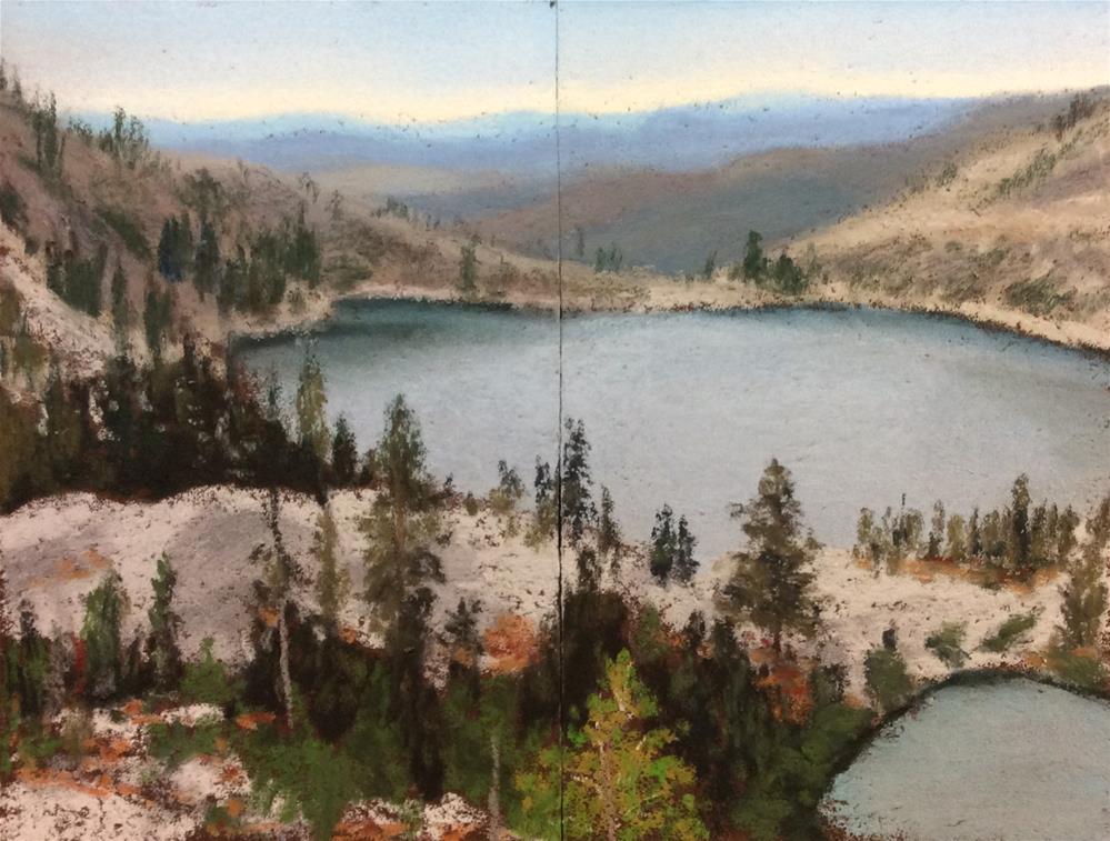 """CARIBOU LAKES DIPTYCH"" original fine art by Marti Walker"