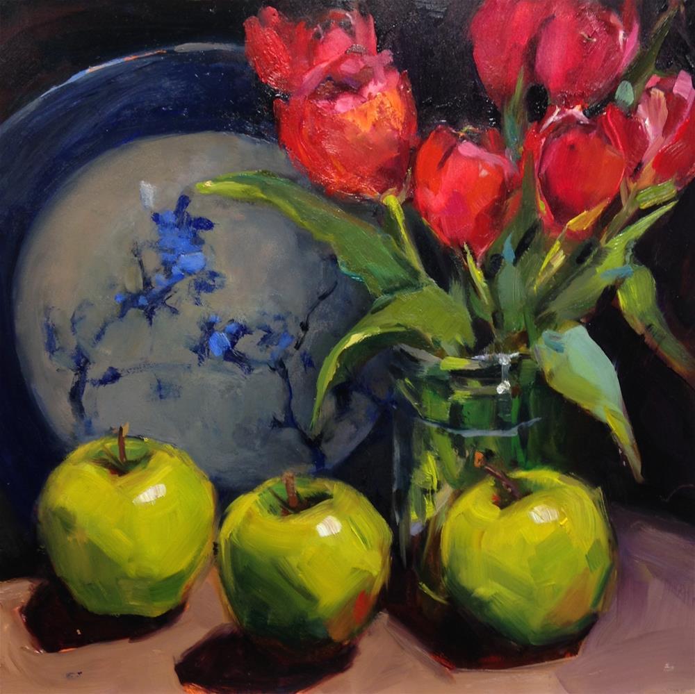 """The Triplets"" original fine art by Laurie Johnson Lepkowska"