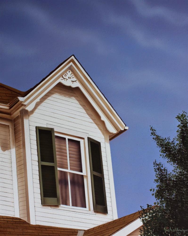 """House On Cedar Street (Second Floor)"" original fine art by Fred Schollmeyer"