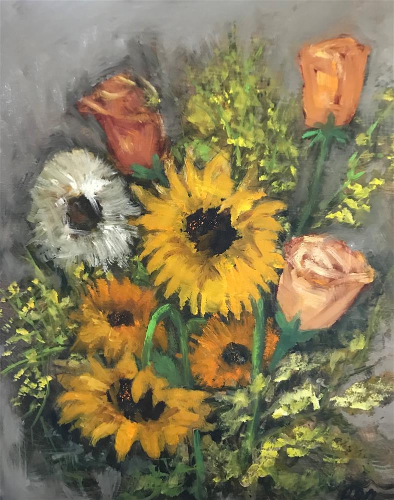 """""""mixed bouquet"""" original fine art by Betty Argiros"""