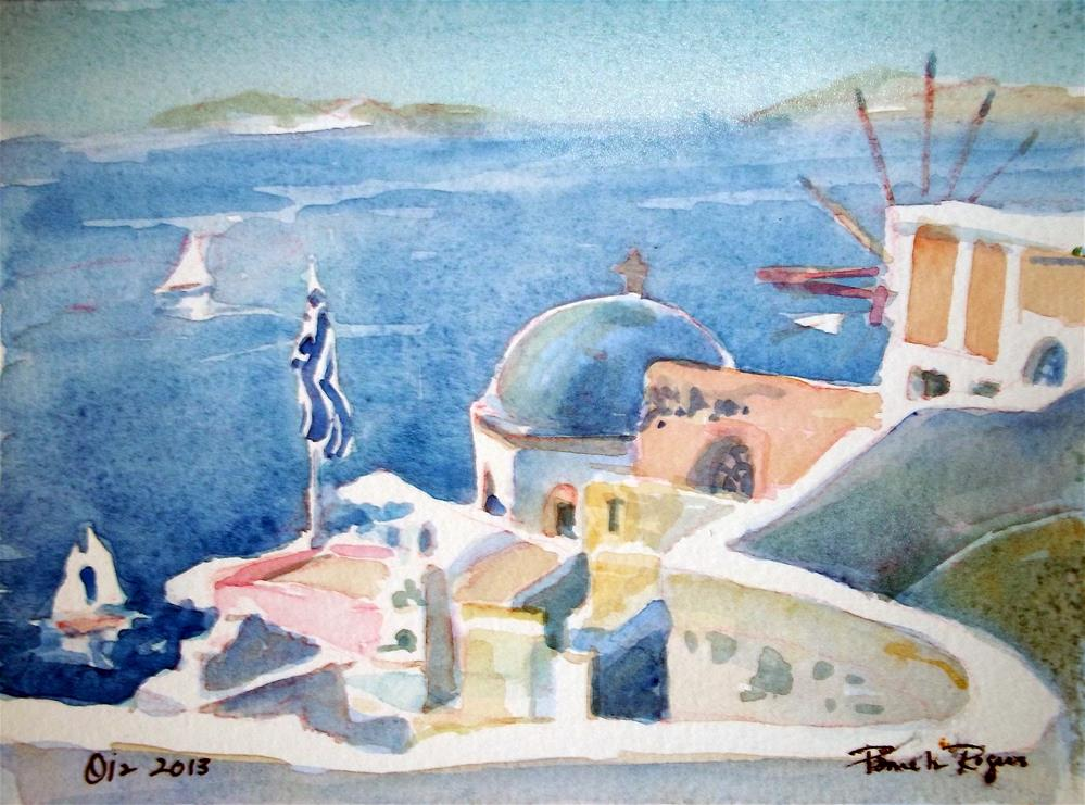 """Oh, Oia!"" original fine art by Pamela Jane Rogers"