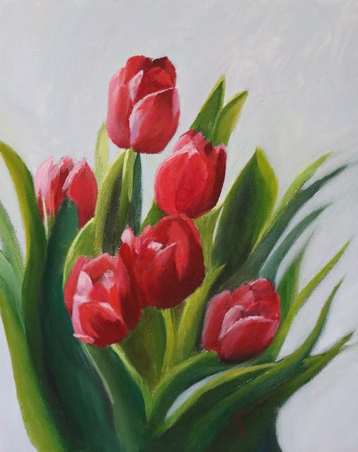 """Mad About Tulips"" original fine art by Sharon Lewis"