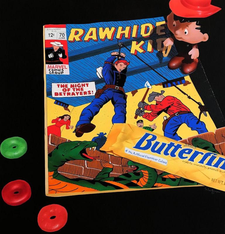 """Candy & Rawhide"" original fine art by Fred Schollmeyer"
