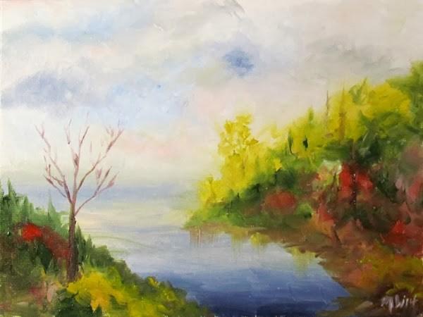 """""""Color Study Landscape Oil Painting"""" original fine art by Mark Webster"""