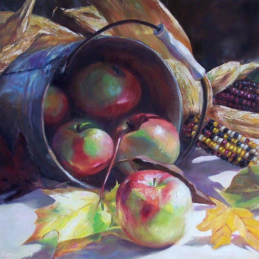 """""""Tipped Apples"""" original fine art by Donna Munsch"""