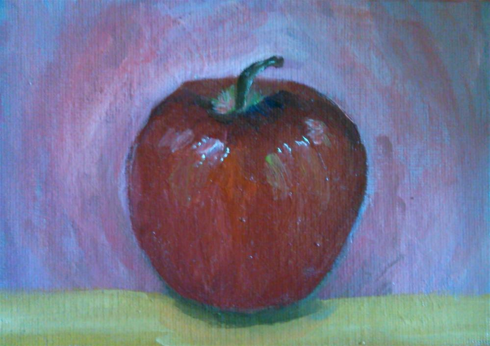"""Apple"" original fine art by Gerri Obrecht"