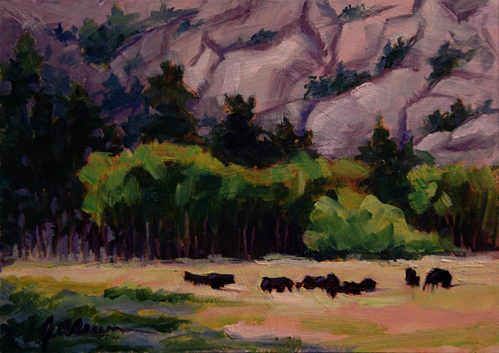 """Estes Valley Herd I"" original fine art by Gary Alsum"