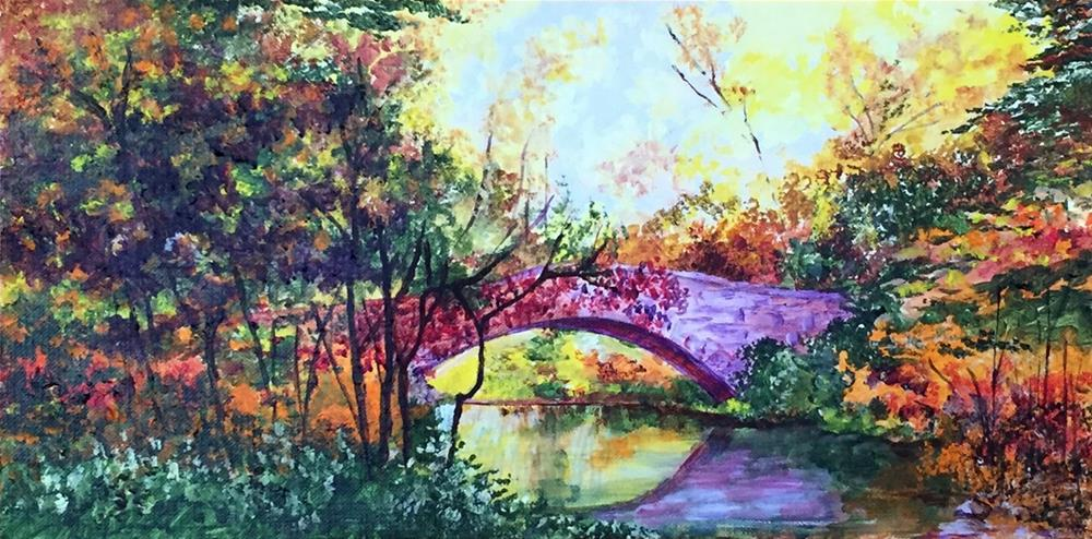 """Gapstow Bridge"" original fine art by Nan Johnson"