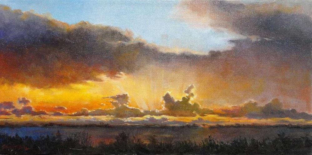 """California Sunset"" original fine art by Kirk Miller"