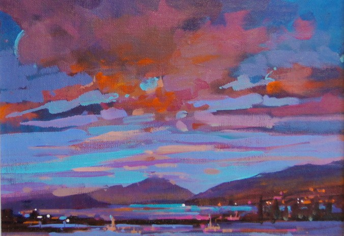 """""""Morning Comes to the Estuary"""" original fine art by Brian Buckrell"""