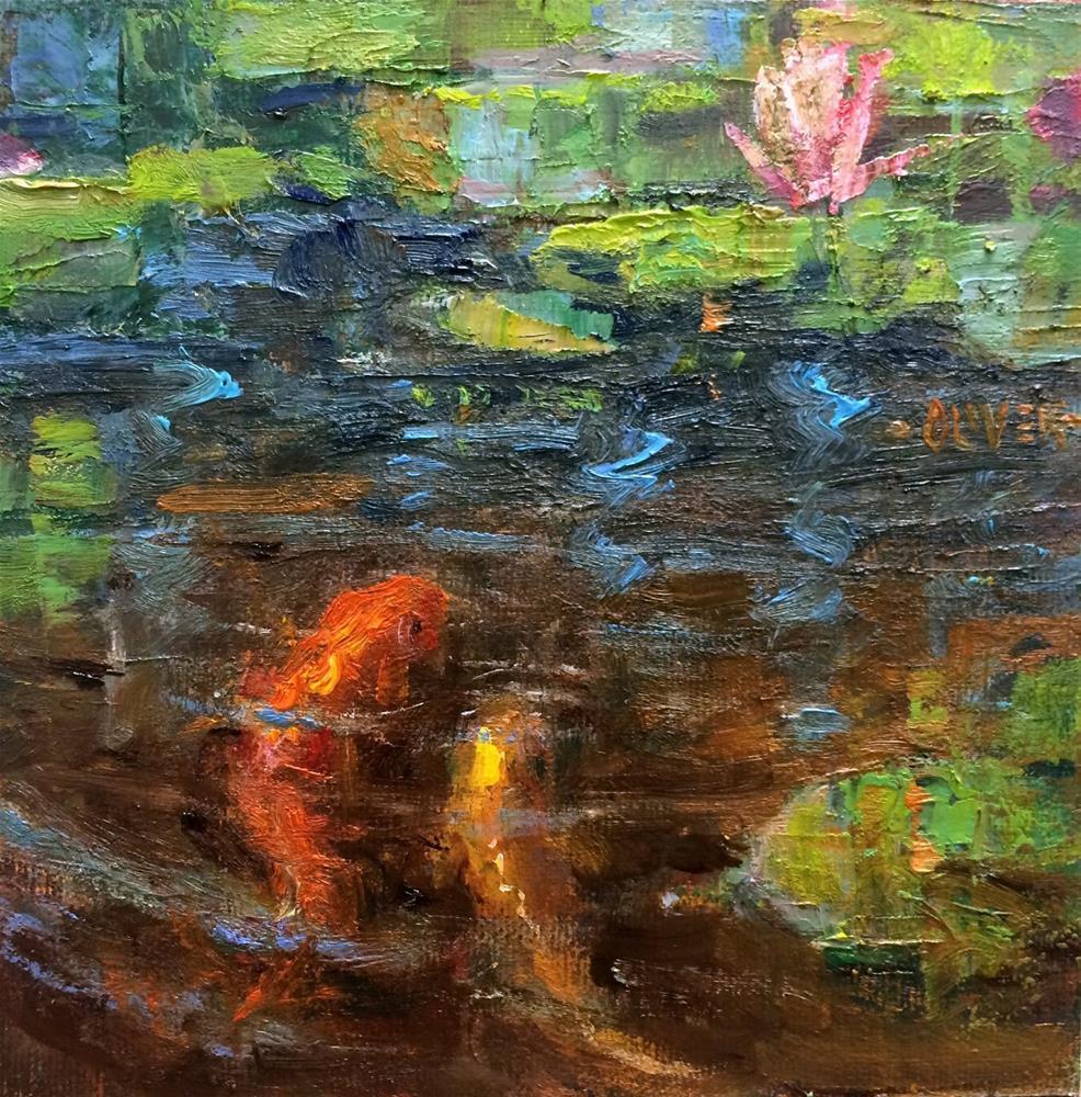 """""""KOI"""" original fine art by Julie Ford Oliver"""