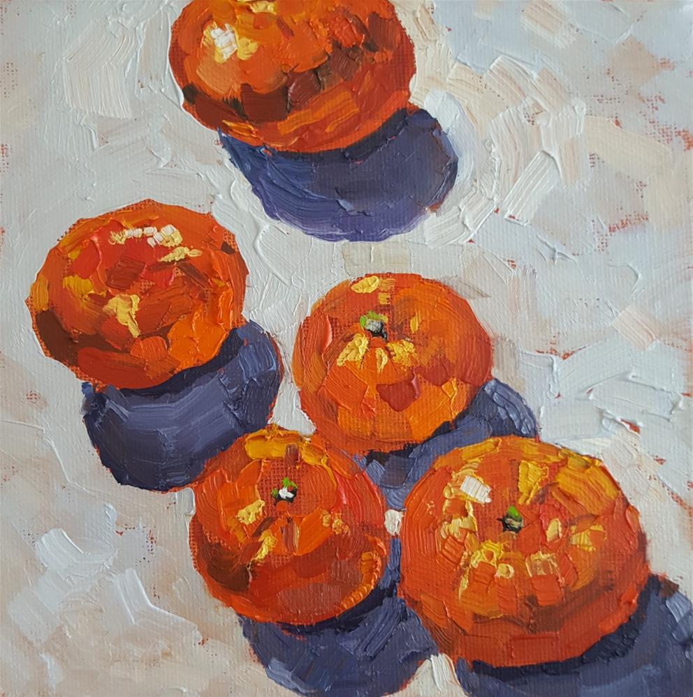 """""""Clementines"""" original fine art by Bhavna Misra"""