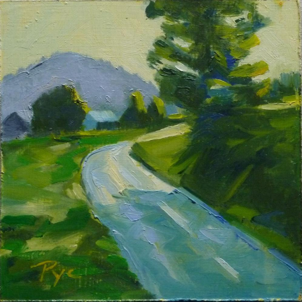 """German Mountain Road 6x6"" original fine art by Mary Pyche"