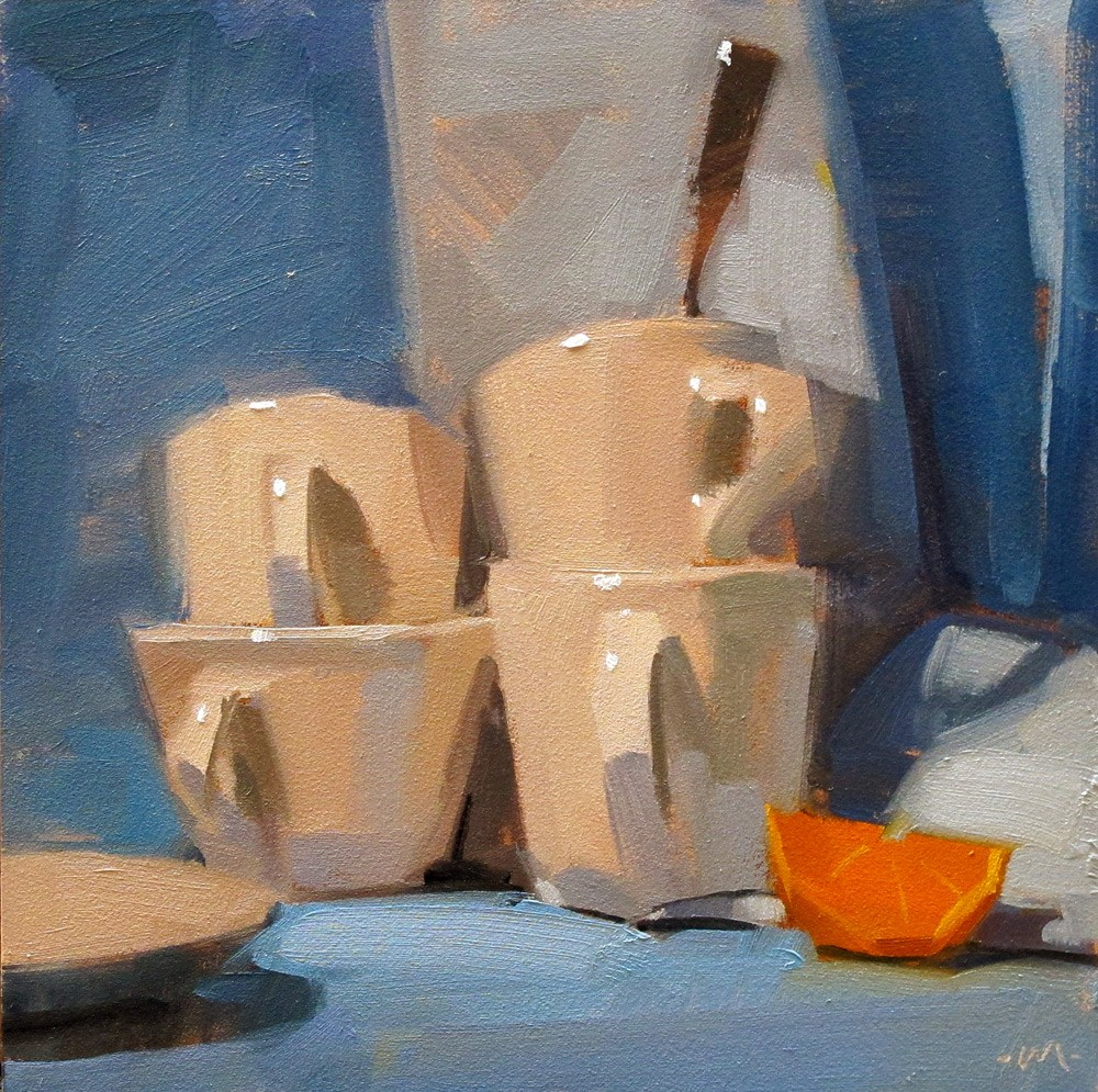 """Stacks & Shadows"" original fine art by Carol Marine"
