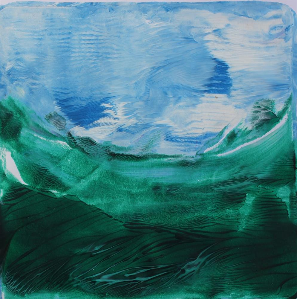 """""""Swimming, Abstract Contemporary Paintings by Amy Whitehouse"""" original fine art by Amy Whitehouse"""