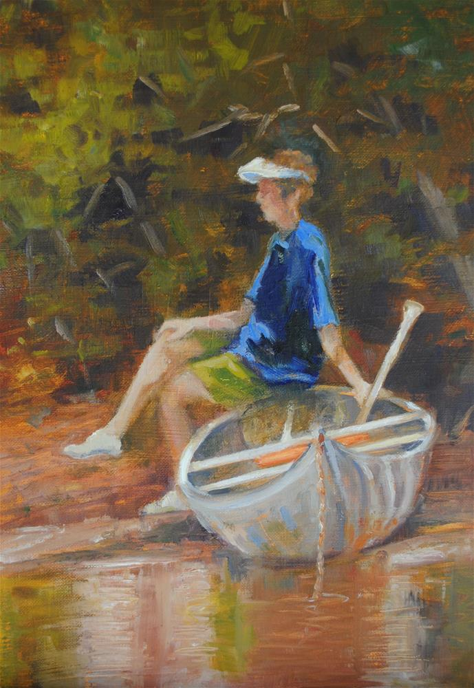"""Creekside"" original fine art by Nan Perry"