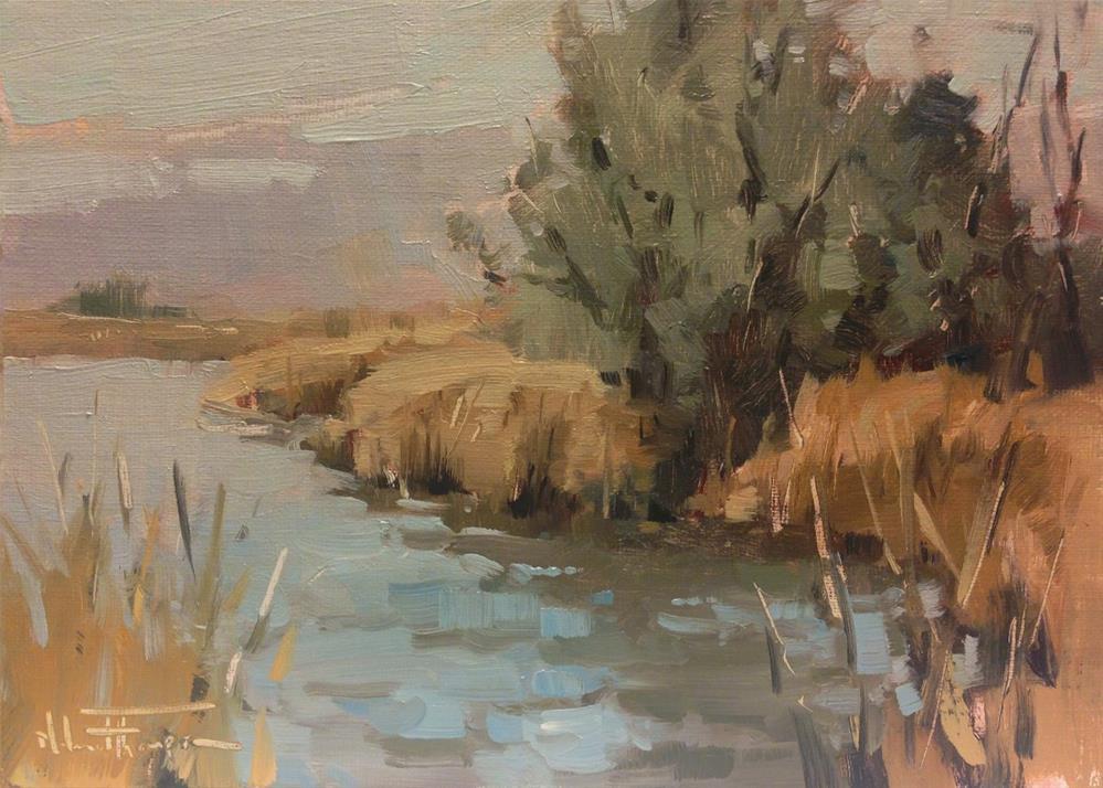 """Quarry Pond"" original fine art by Melanie Thompson"