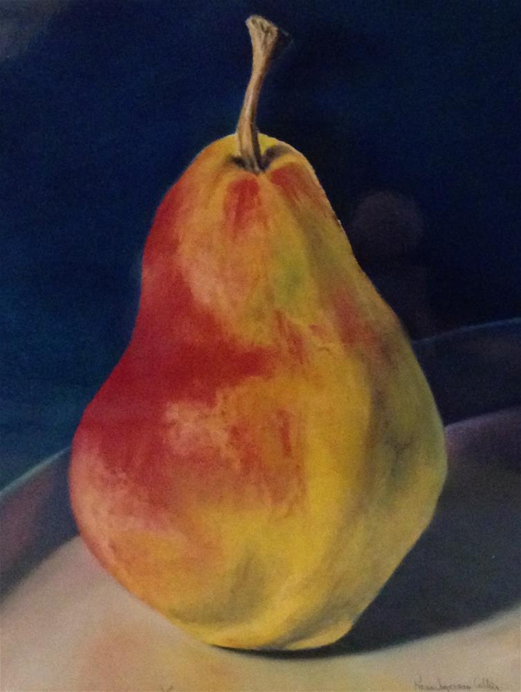 """Gail's Pear"" original fine art by Karen Collins"