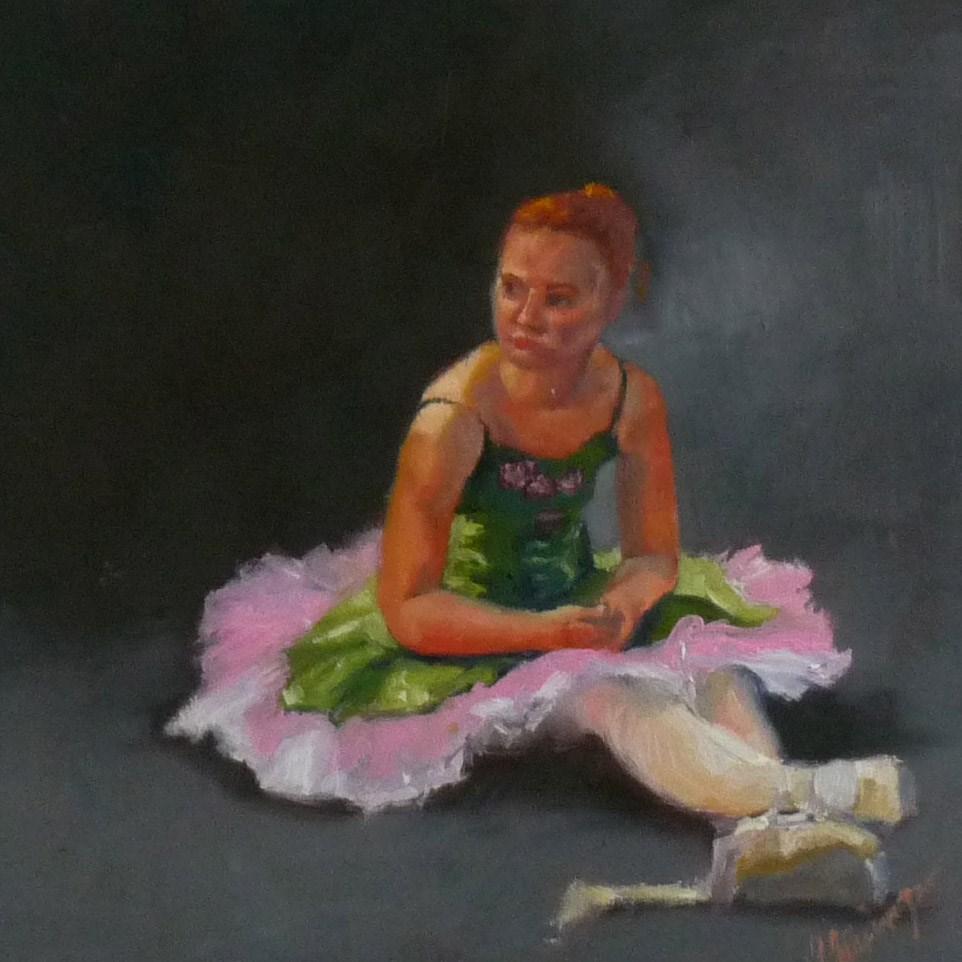"""The Wait"" original fine art by Sharman Owings"