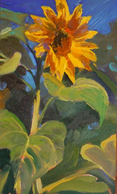 """""""You are my Sunshine sunflower oil painting,"""" original fine art by Robin Weiss"""