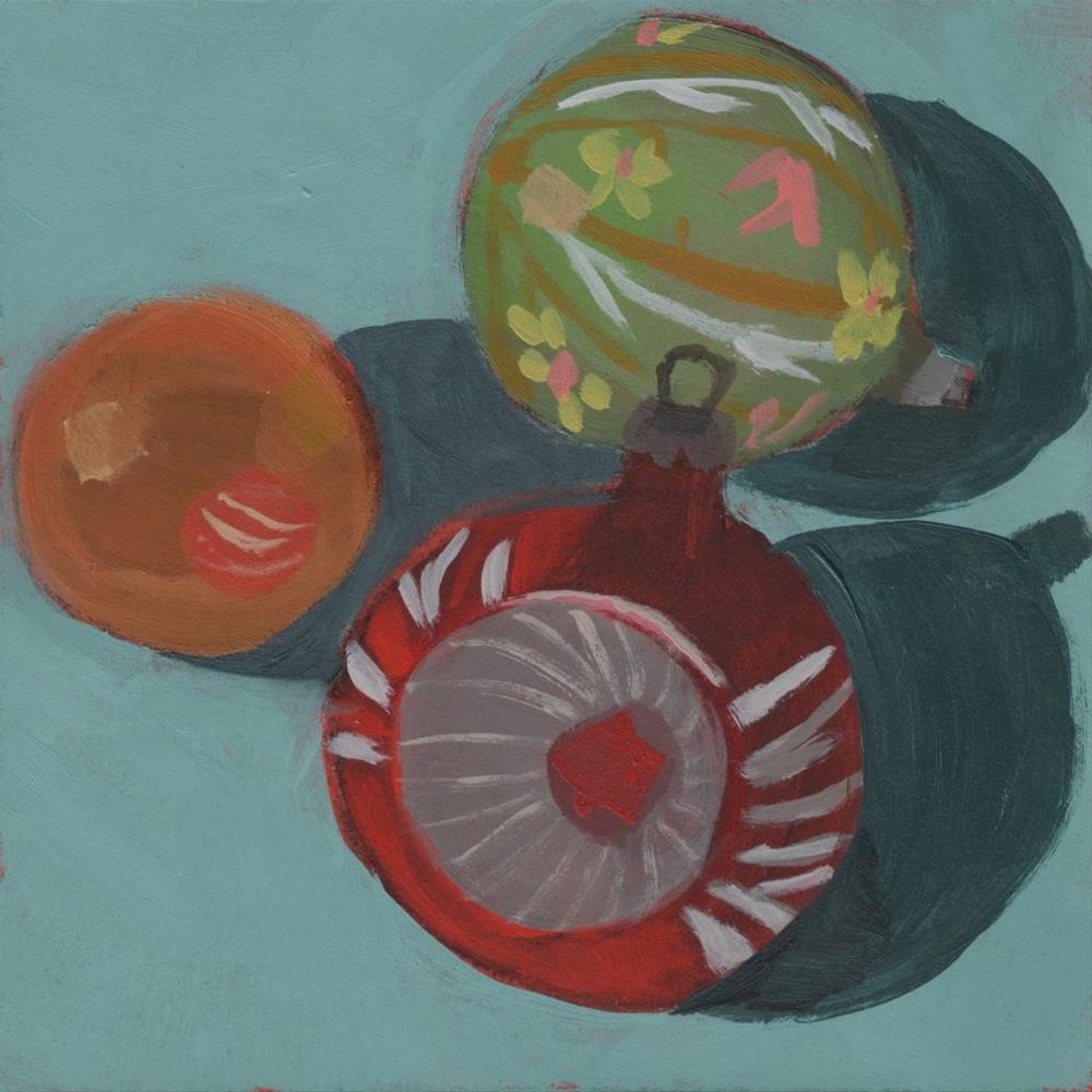 """""""Merry & Bright (#296)"""" original fine art by Debbie Miller"""