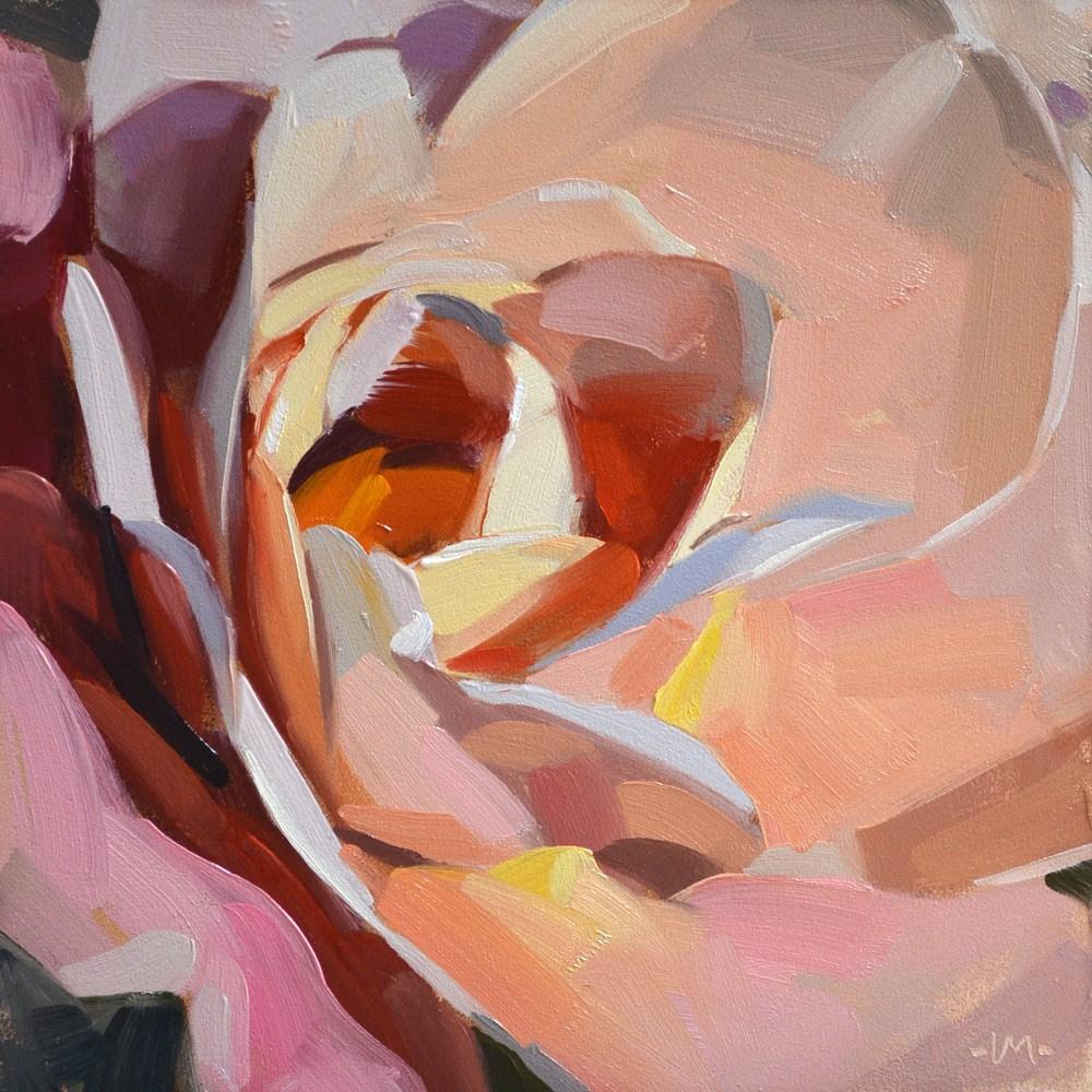 """Full Sun Rose"" original fine art by Carol Marine"