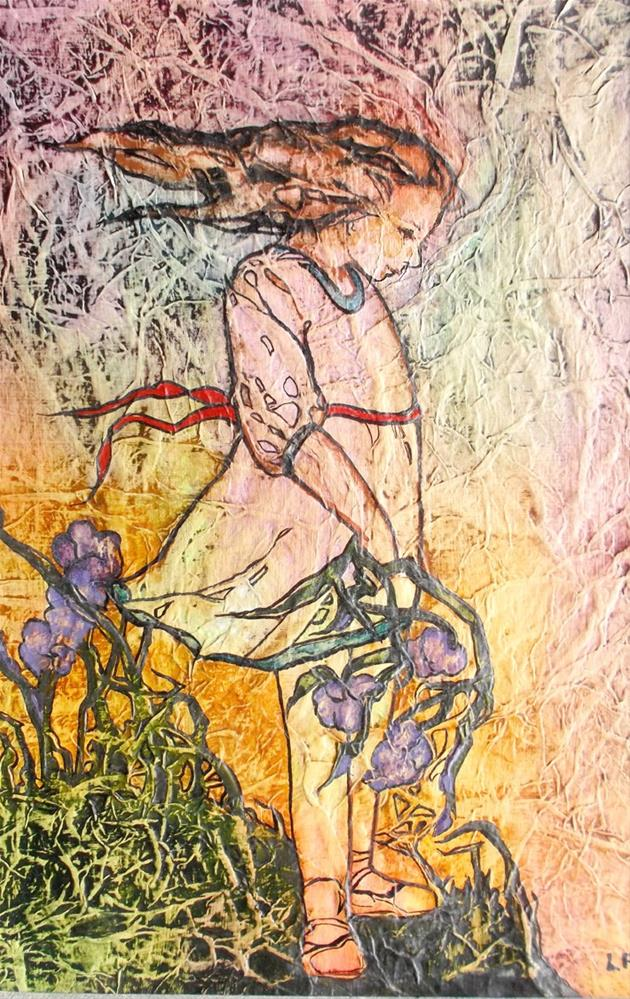 """Zen Inspired Windy Day Watercolor on Tissue"" original fine art by lynne french"