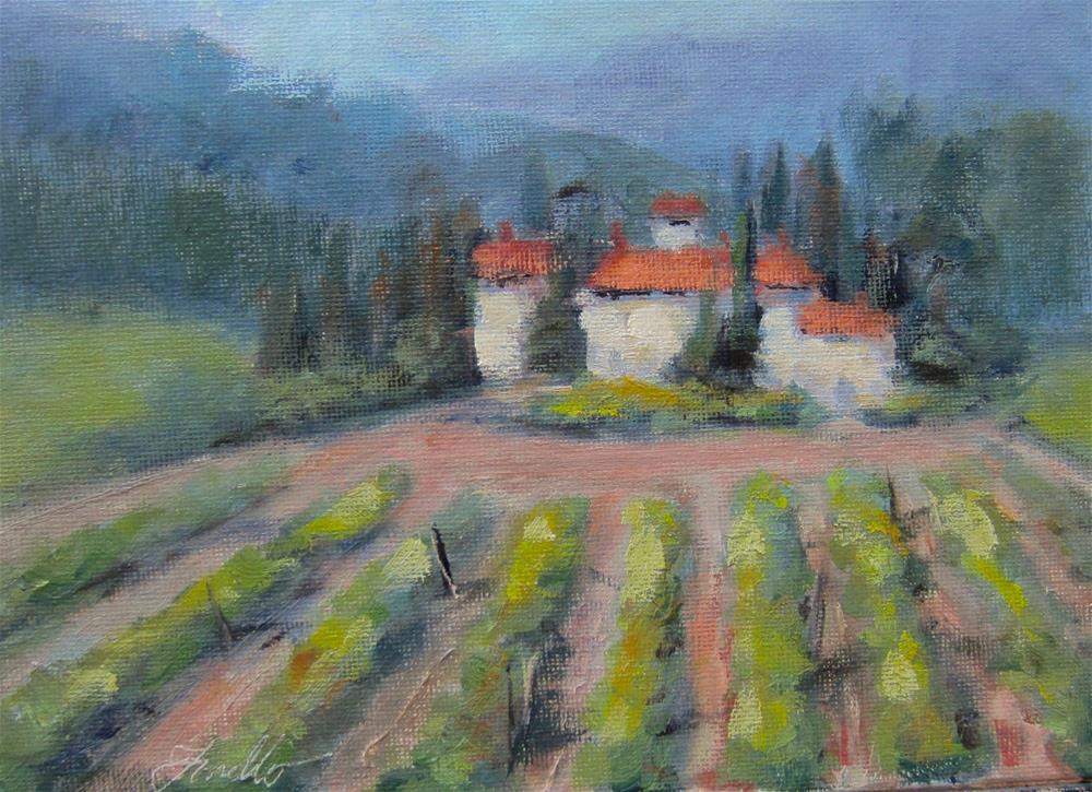 """""""A little taste of Tuscany"""" original fine art by Pat Fiorello"""