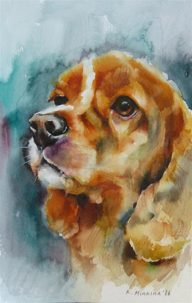 """adopt179 - Lucy"" original fine art by Katya Minkina"
