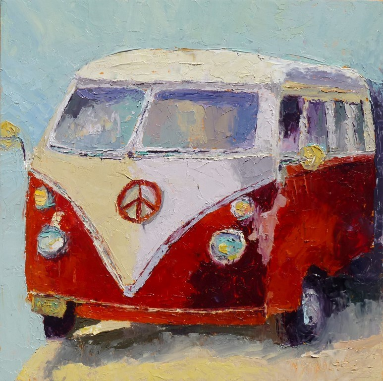 """VW Beetle 14080"" original fine art by Nancy Standlee"