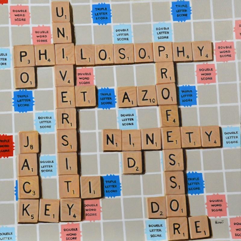 """""""Scrabble Commission"""" original fine art by Kim Testone"""