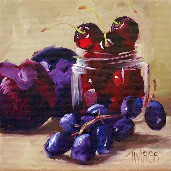 """Cherry Mixer"" original fine art by Lori Twiggs"