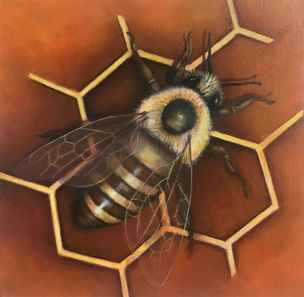 """Honeybee"" original fine art by Joetta Currie"