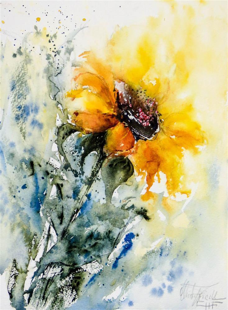 """""""Sunflower"""" original fine art by Christa Friedl"""