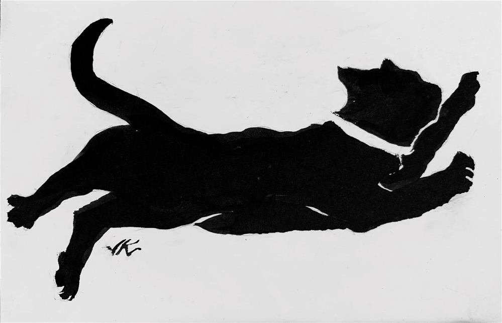 """Cat 9"" original fine art by Jean Krueger"