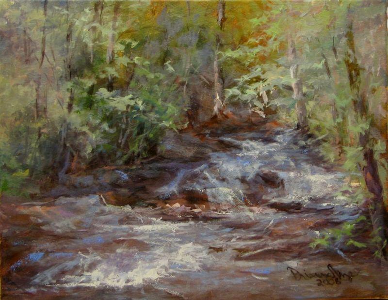 """York Falls, Fourth Day"" original fine art by Dianne Mize"