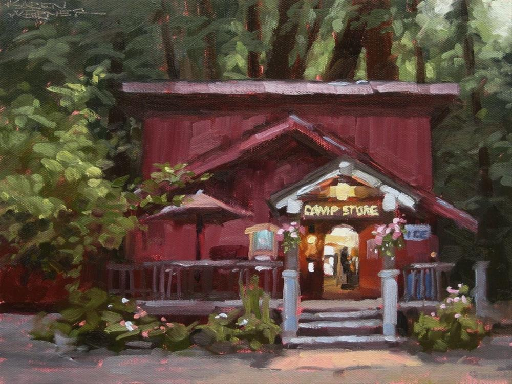 """The Camp Store"" original fine art by Karen Werner"