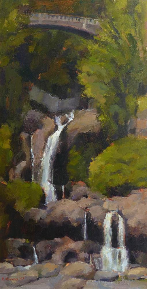 """Pools of 'O'heo"" original fine art by Katya Minkina"