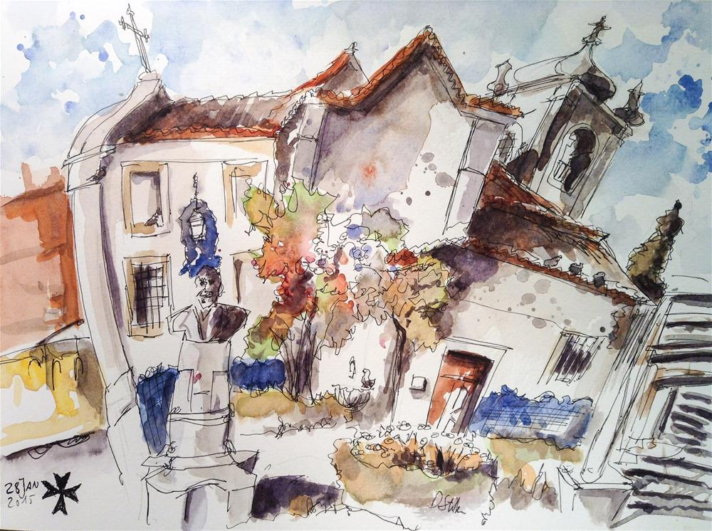 """1260 Santa Luzia"" original fine art by Dietmar Stiller"