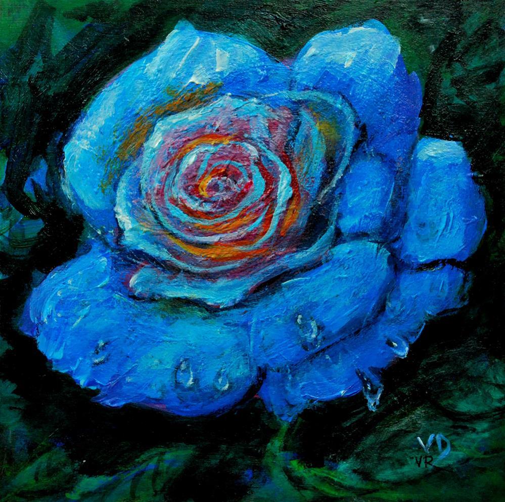 """""""blue rose"""" original fine art by vishalandra dakur"""