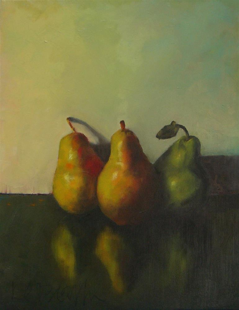 """Three Pears"" original fine art by Kathy Broyles"