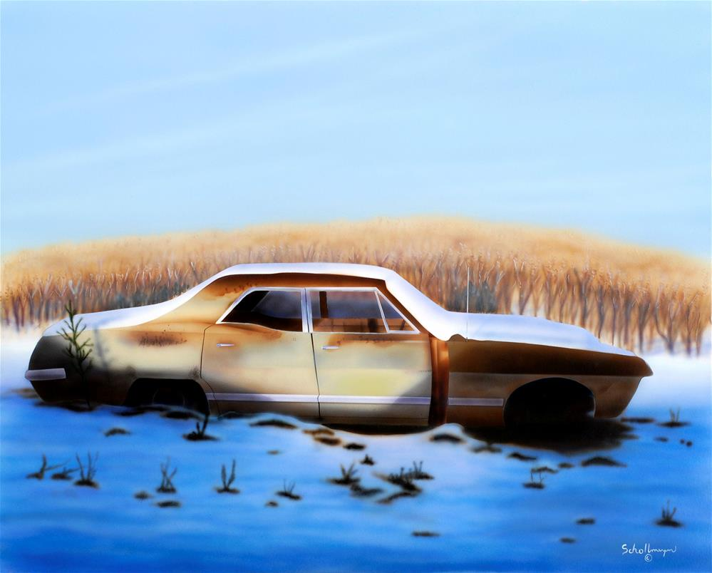 """""""Final Rusting Place"""" original fine art by Fred Schollmeyer"""