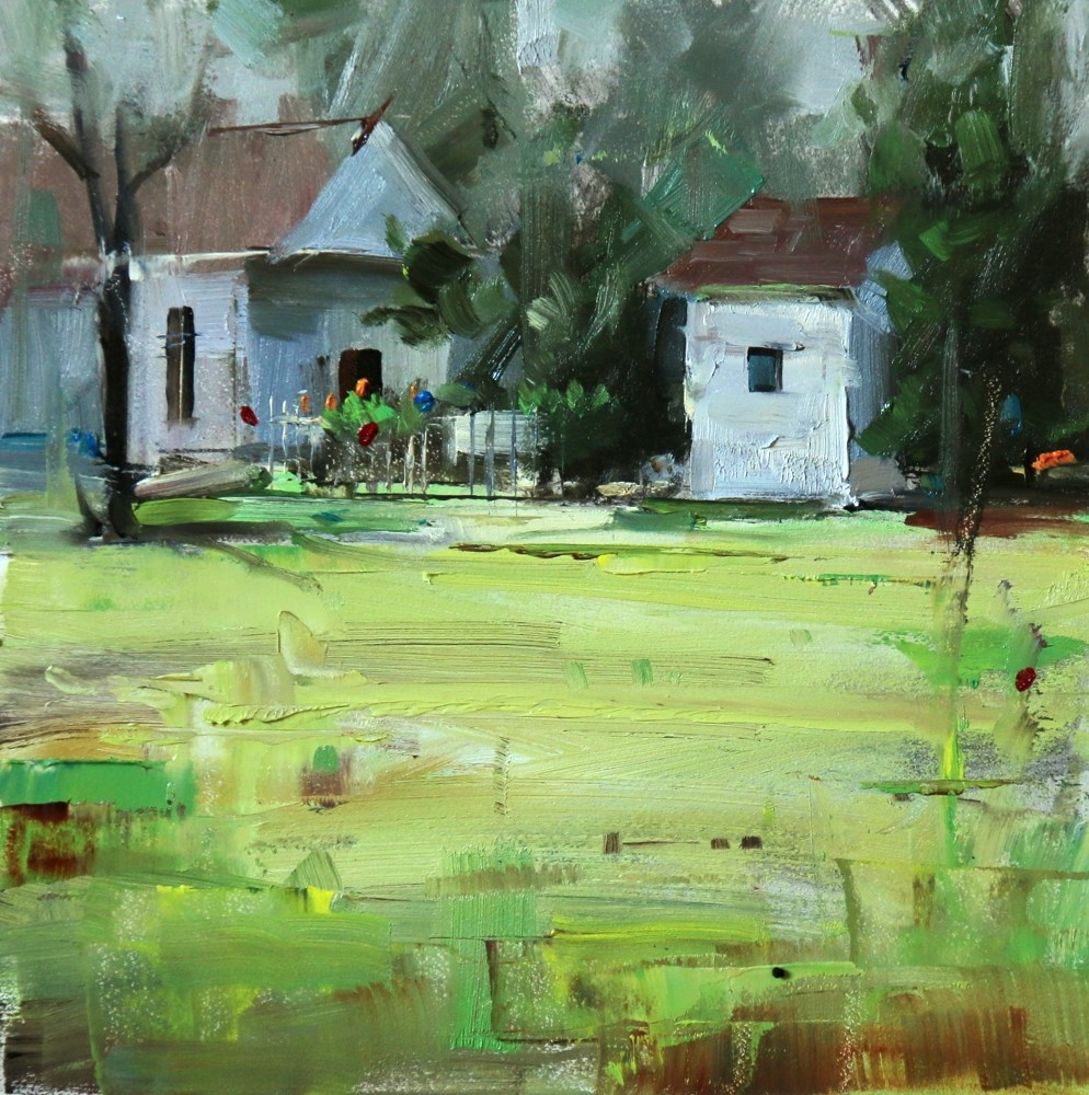 """French Legation Museum, Austin"" original fine art by Qiang Huang"