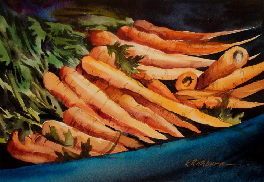 """Do You Carrot All?"" original fine art by Kathy Los-Rathburn"