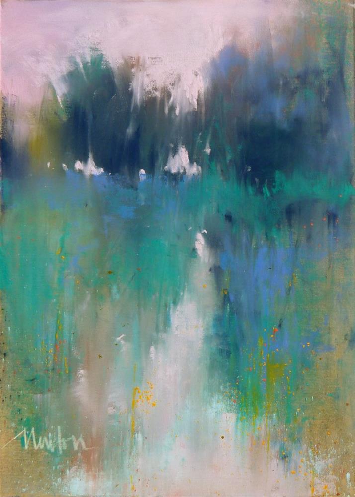 """Rock Creek Series #3"" original fine art by Barbara Benedetti Newton"