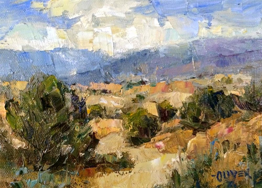 """""""Tesuque, New Mexico - Day 12"""" original fine art by Julie Ford Oliver"""