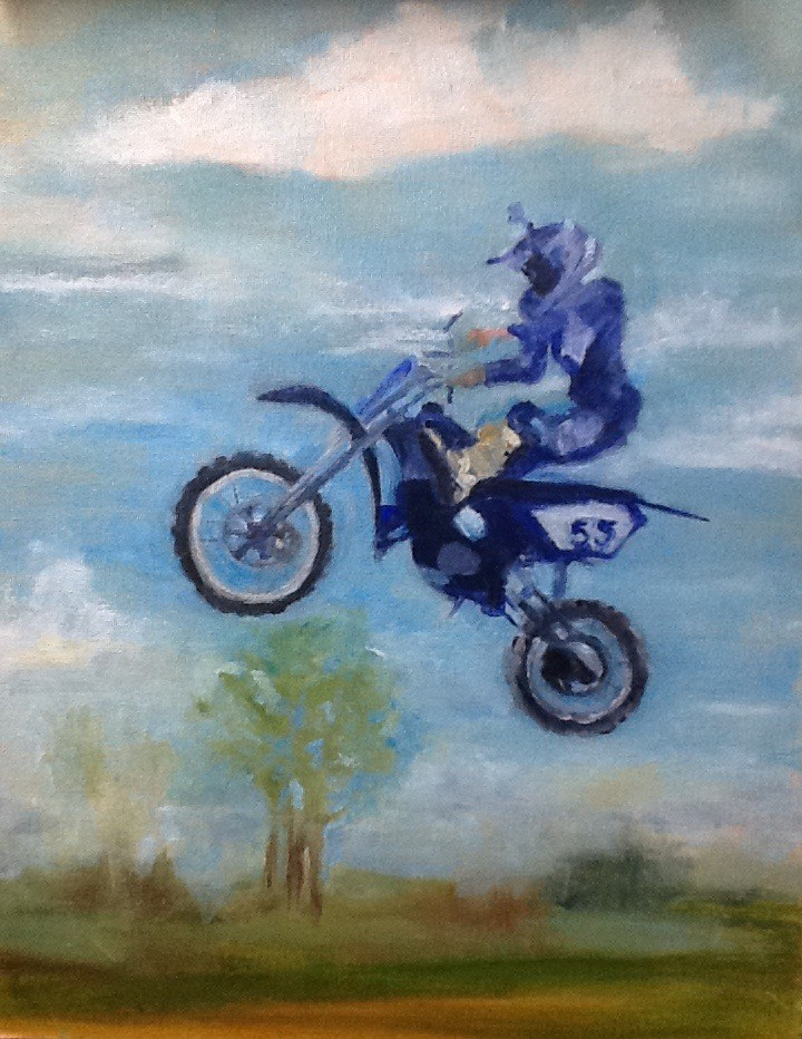 """Jumper"" original fine art by Peggy Schumm"