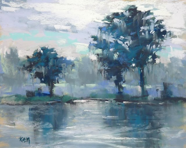 """New Youtube Video: Painting Monochromatic Trees"" original fine art by Karen Margulis"