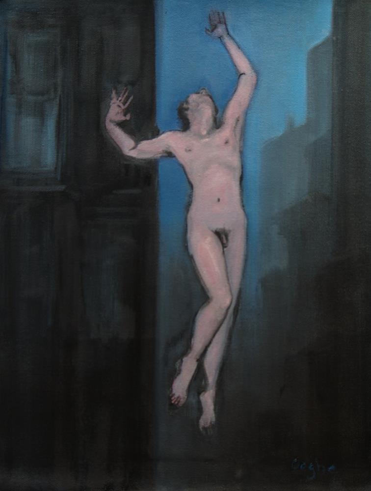 """Flying Nude"" original fine art by Angela Ooghe"